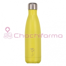 Chilly's Bottle Neon Amarillo botella termo de acero inoxidable 500 ml