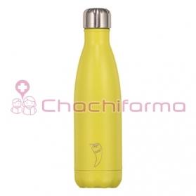 Chilly´s Botella termo de acero inoxidable AMARILLO NEON 500ML