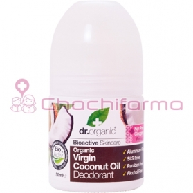 Dr. Organic Virgin Coconut Oil desodorante pieles sensibles 50ML