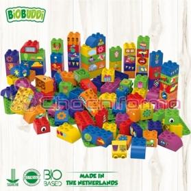 BioBuddy bloques de construcción BIO aprendiendo a crear con formas 100 piezas BB0010