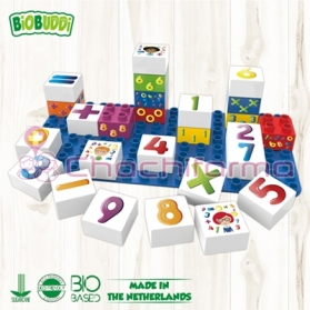 BioBuddy bloques de construcción BIO números 27 piezas + base BB0002