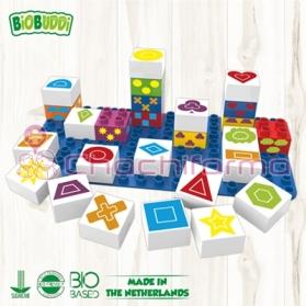 BioBuddy bloques de construcción BIO Símbolos 27 piezas + base BB0004