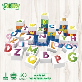 BioBuddy bloques de construcción BIO Letras 35 piezas + base BB0005