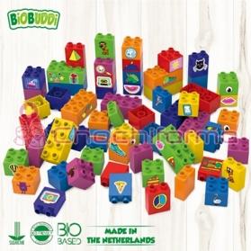 BioBuddy bloques de construcción BIO aprendiendo a contruir 60 piezas BB0012