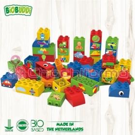 BioBuddy bloques de construcción BIO aprendiendo a crear con formas 40 piezas BB0006