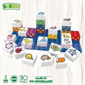BioBuddy bloques de construcción BIO Animales 27 piezas + base BB0001
