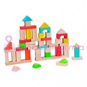 EverEarth juguete ecológico Bloques de contrucción 50 uds ref/32569