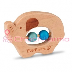 EverEarth juguete ecológico Sonajero Elefante ref/33675