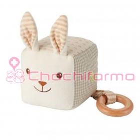 EverEarth juguete ecológico peluche Conejo cuadrado ref/33693