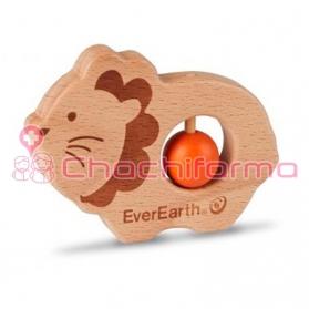 EverEarth juguete ecológico Sonajero León ref/33672