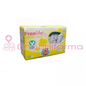 Freelife Bebecash pañal recién nacido 2-4kg T-1 28 uds