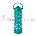 Lifefactory botella 650ml axis straw cap ultramarine