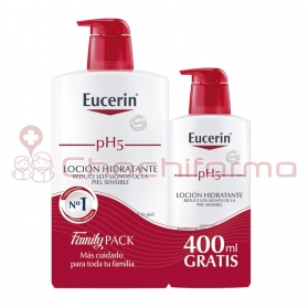 Eucerin pH5 loción hidratante Family Pack 1000 ml + 400 ml