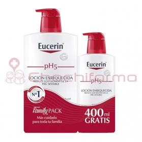 Eucerin pH5 loción hidratante enriquecida Family Pack 1000 ml + 400 ml