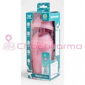 Herobility biberón rosa 240 ml