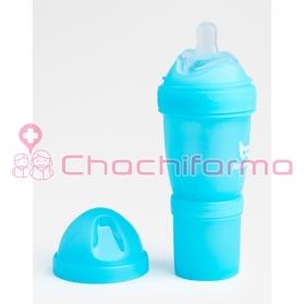 Herobility biberón azul 140 ml