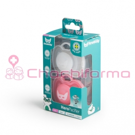 Herobility chupete +0M rosa...