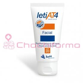 Leti AT4 SPF 20 crema facial hidratante para piel atópica 50 ml