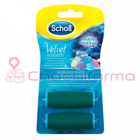 Dr scholl velvet smooth 2 recambios durezas leves para lima eléctrica