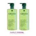 Rene Furterer Naturia champú duplo 2X500 ml 50% descuento en la 2ª unidad