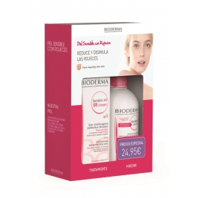 Bioderma pack piel sensible con rojeces (sensibio ar bb cream 40 ml + sensibio h20 ar 250 ml)