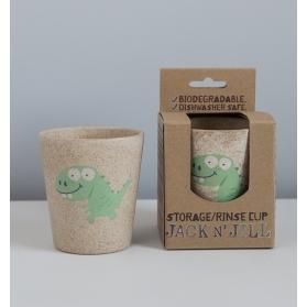 Jack N´Jill vaso de Bambú y Arroz ecológico modelo Dinosaurio