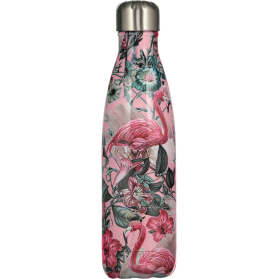 Chilly´s Botella termo de acero inoxidable TROPICAL FLAMINGO 500ML