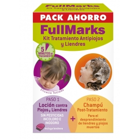 FULLMARKS ANTIPIOJOS Y LIENDRES CHAMPÚ 150ML+ LOCIÓN PEDICULICIDA 100 ML