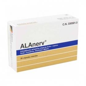 Alanerv 920 mg 30 cápsulas con ácidos Lipoico y Linolénico