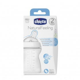 Chicco biberón Natural Feeling +2M efecto mamá 250 ml