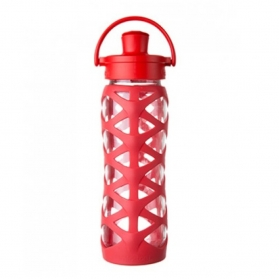 LIFEFACTORY BOTELLA 650ML ACTIVE FLIP CAP CHARGED RED