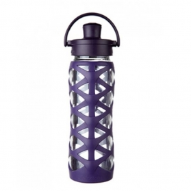 Lifefactory botella de cristal Active Flip Cap Aubergine 650ml