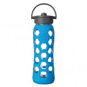 Lifefactory botella de cristal Straw Cap Ocean 650ml