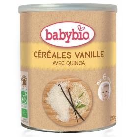 BabyBio cereales ecológicos vainilla con arroz y quinoa 220 gr