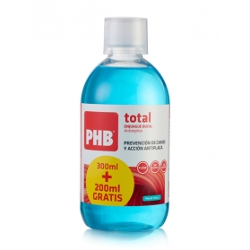PHB Total colutorio 500 ml con Flúor y Xylitol sin alcohol