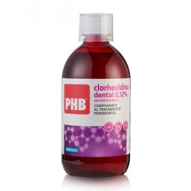 PHB Clorhexidina colutorio 500 ml para afecciones bucales
