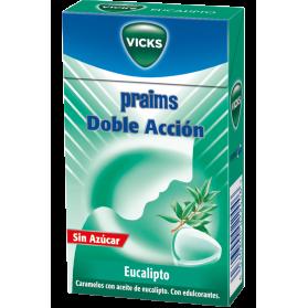 Vicks praims caramelos doble acción eucalipto sin azúcar caja 40g