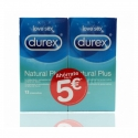 Durex duplo natural plus preservativos 12 preservativos 2 cajas