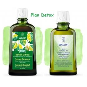 Weleda Plan Detox anticelulítico Bio zumo de Abedul 200ml+ aceite de Abedul 100ml