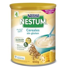 Nestlé Nestum papilla cereales sin gluten lata 650 gr