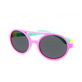 Farmamoda gafa de sol infantil polarizada ref s853 rosa y verde