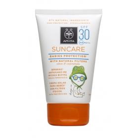 Apivita crema solar para bebés  con oliva y caléndula SPF30 100ml