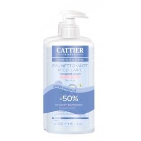 Cattier duplo agua micelar limpiadora bebé cara y cuerpo 2 x 500 ml
