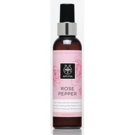 Apivita Rose Pepper aceite corporal reafirmante y remodelante con rosa  150ml