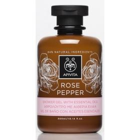 Apivita rose pepper gel de ducha con rosa 300ml