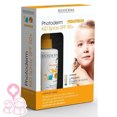 Bioderma Photoderm Kid spray SPF50+ 200ml + Atoderm aceite de ducha 100ml f45045541f62