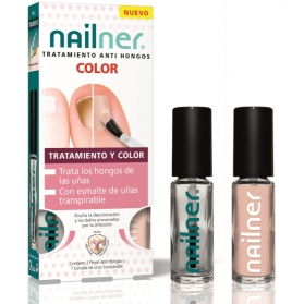 Nailner pincel anti hongos color 2 esmaltes 5 ml