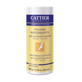 Cattier polvos absorbentes desodorantes para pies 65G