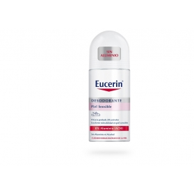 Eucerin desodorante piel sensible 0% aluminio roll-on 50 ml