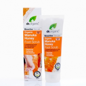 Dr Organic Manuka Honey exfoliante para pies 125 ml